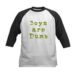 Boys are Dumb Kids Baseball Jersey