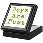 Boys are Dumb Keepsake Box