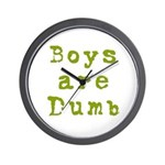 Boys are Dumb Wall Clock