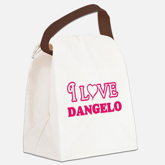 I Love Dangelo Canvas Lunch Bag