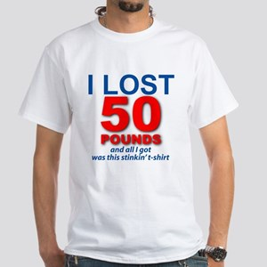 I Lost 50 White T-Shirt