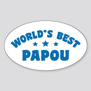 World's Best Greek Papou Sticker (Oval)
