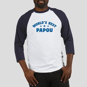 World's Best Greek Papou Baseball Jersey
