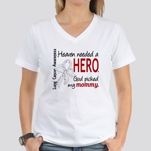 Heaven Needed a Hero Lung Cancer Women's V-Neck T-