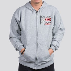 Heaven Needed a Hero Lung Cancer Zip Hoodie