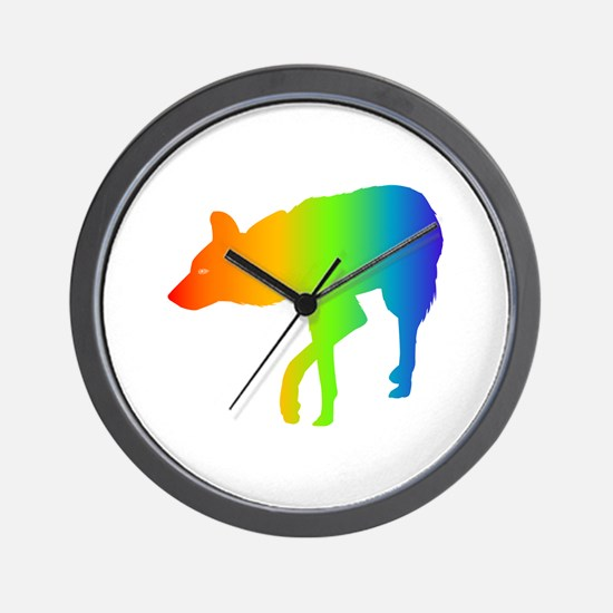 African Wild Dog Wall Clock