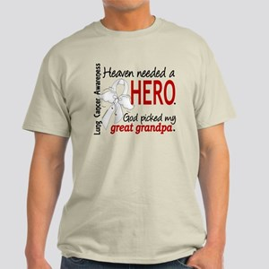 Heaven Needed a Hero Lung Cancer Light T-Shirt