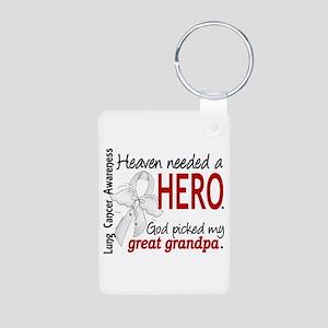 Heaven Needed a Hero Lung Cancer Aluminum Photo Ke