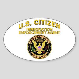 Border Patrol, Citizen Agent Oval Sticker