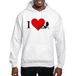 I Love Women Hooded Sweatshirt