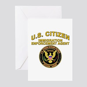 Border Patrol, Citizen Agent  Greeting Cards (Pack