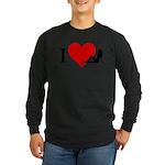 I Love Women Long Sleeve Dark T-Shirt