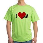 I Love Women Green T-Shirt
