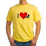 I Love Women Yellow T-Shirt