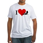 I Love Women Fitted T-Shirt