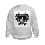 Black Wolf Shield Kids Sweatshirt