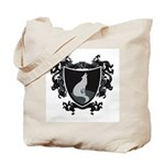 Black Wolf Shield Tote Bag