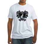 Black Wolf Shield Fitted T-Shirt