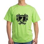 Black Wolf Shield Green T-Shirt