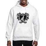 Black Wolf Shield Hooded Sweatshirt