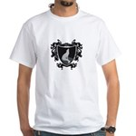 Black Wolf Shield White T-Shirt