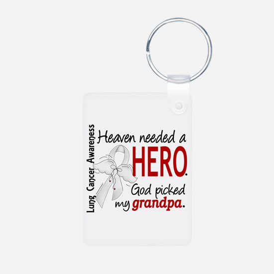 Heaven Needed a Hero Lung Cancer Keychains