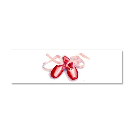 Red Toeshoes Car Magnet 10 x 3