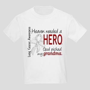 Heaven Needed a Hero Lung Cancer Kids Light T-Shir