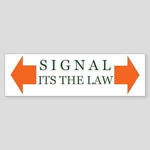 Turn Signal Bumper Sticker