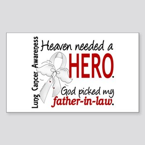 Heaven Needed a Hero Lung Cancer Sticker (Rectangl