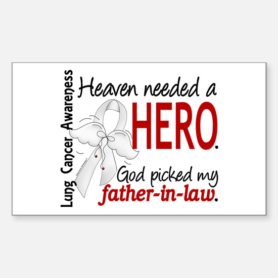 Heaven Needed a Hero Lung Cancer Decal