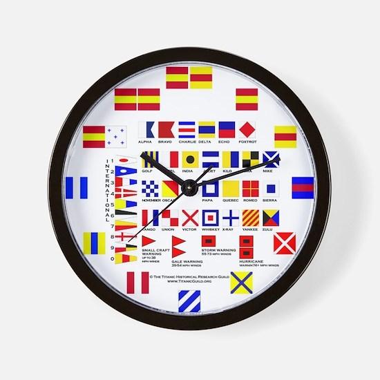 "Merlin ""Nautical Flags"" Wall Clock"