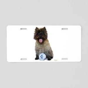 Cairn Terrier Football Scot Aluminum License Plate