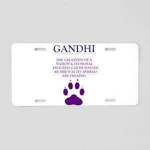 GANDHI Aluminum License Plate
