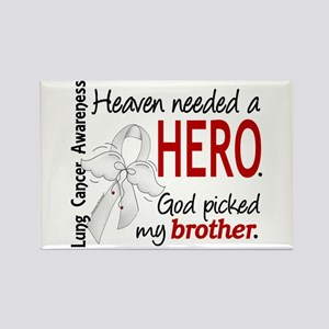 Heaven Needed a Hero Lung Cancer Rectangle Magnet