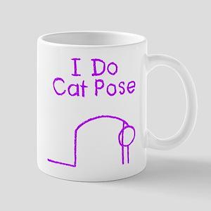 Purple Cat Pose Mug