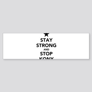 STAY STRONG AND STOP KONY Sticker (Bumper)