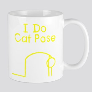 Yellow Cat Pose Mug