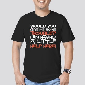 give me some trouble Men's Fitted T-Shirt (dark)