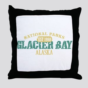 Glacier Bay National Park AK Throw Pillow