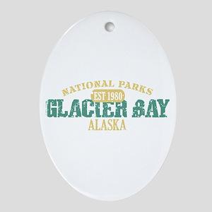 Glacier Bay National Park AK Ornament (Oval)