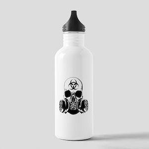 Biohazard Zombie Skull Stainless Water Bottle 1.0L