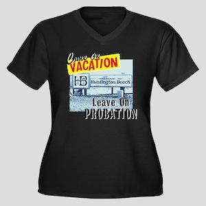 Huntington Beach Vacation Women's Plus Size V-Neck