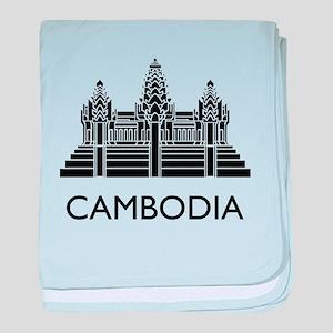 Cambodia Angkor Wat baby blanket
