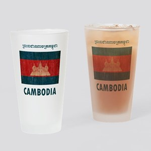Vintage Cambodia Drinking Glass