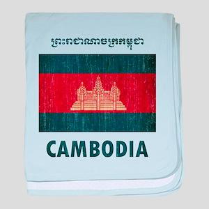 Vintage Cambodia baby blanket