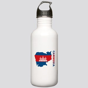 Map Of Cambodia Stainless Water Bottle 1.0L