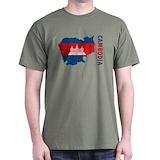 Cambodia Mens Classic Dark T-Shirts