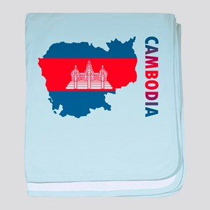 Map Of Cambodia baby blanket