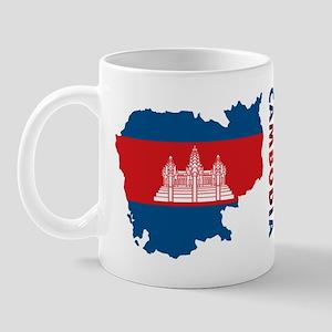 Map Of Cambodia Mug